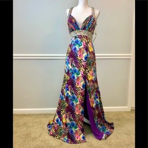 NWT SHOWTIME COLLECTION LONG FORMAL DRESS Sz 8